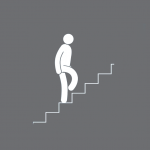 a-person-walking-up-the-stairs